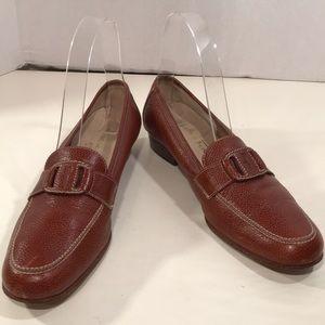 Salvatore Ferragamo Cognac Loafers Size 7.5